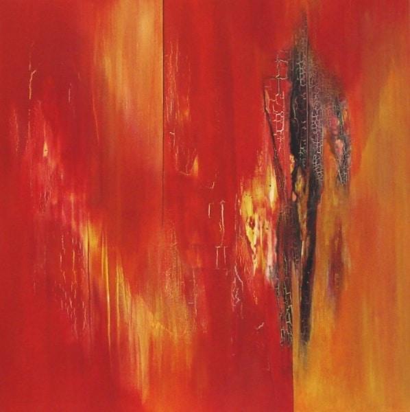 """Bild """"Energie-Rot"""" von Renate Moser :: moser-art"""