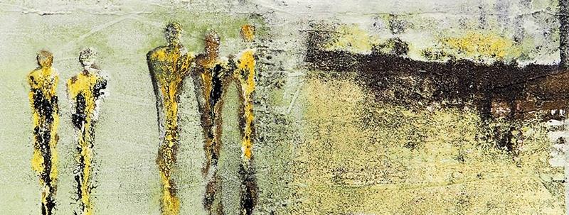 """Bilder aus dem Malkurs """"Malen mit flüssigem Asphalt"""""""