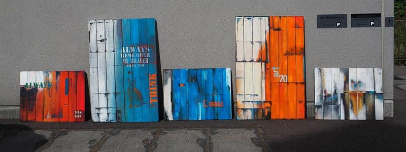 Fotos aus dem Kurs «Malerei auf Holzpaletten»