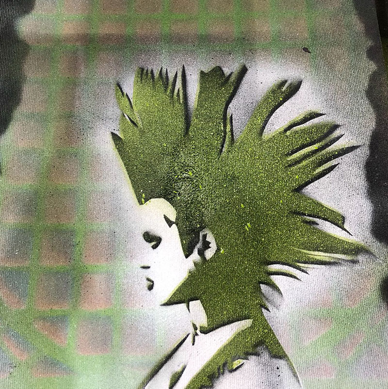 Schablone «Punk» aus dem Graffiti-Workshop 18. & 19. Mai 2019 | moser-art